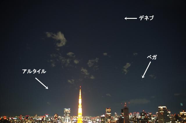 東京タワーと夏の大三角形