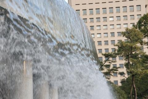 噴水の流れ