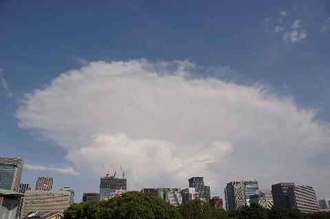 ますます発達する積乱雲