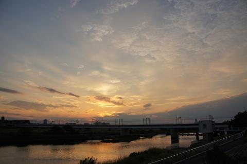 多摩川・夕景