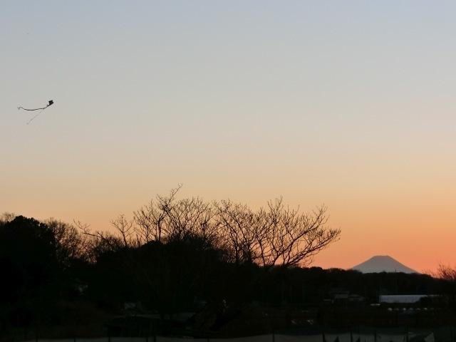 凧と富士山