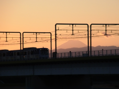 参拝の列から富士山