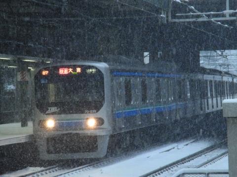 雪の中のりんかい線