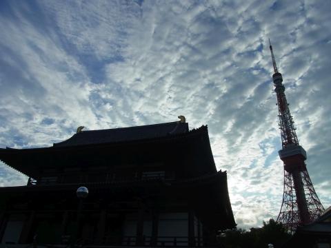 増上寺と東京タワー