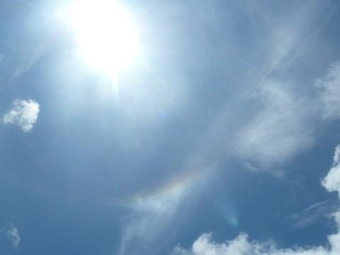 流れる虹色