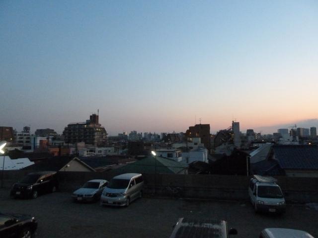 明け方の北東の空