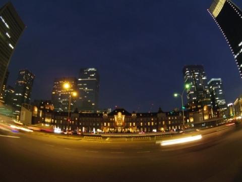 東京駅夕景