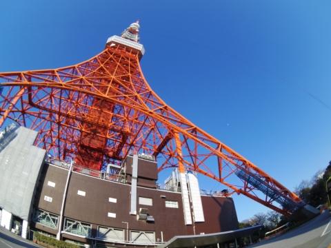 東京タワーと月見:Fisheye