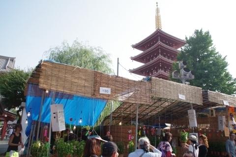 五重塔とほおずき市