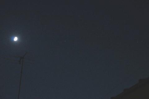 月・スピカ・土星