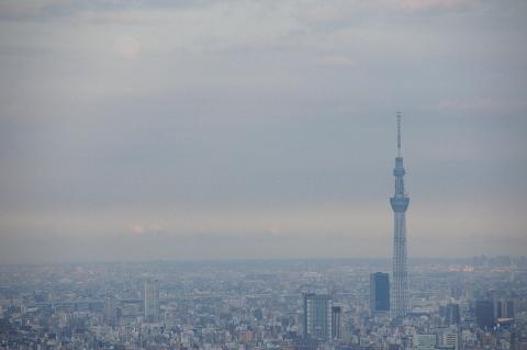 東京スカイツリーと小望月