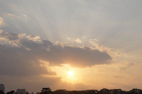手を広げる太陽