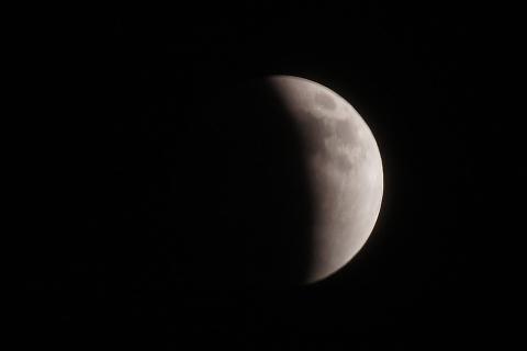 月食開始から45分後
