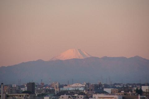 朝の赤富士