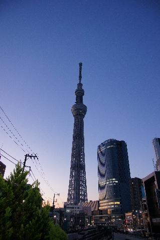 夕暮の東京スカイツリー