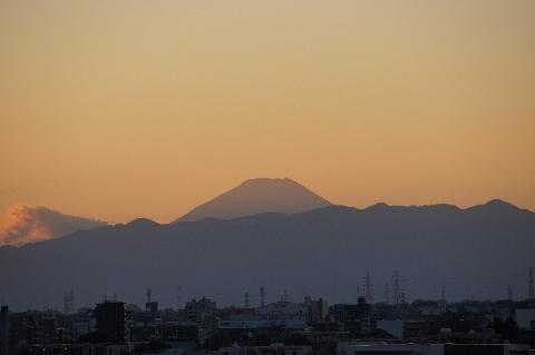 16時30分の富士山