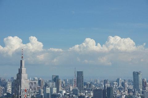 東京タワーの上の月
