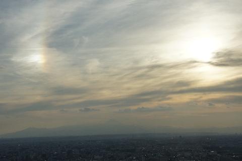 幻日と富士山