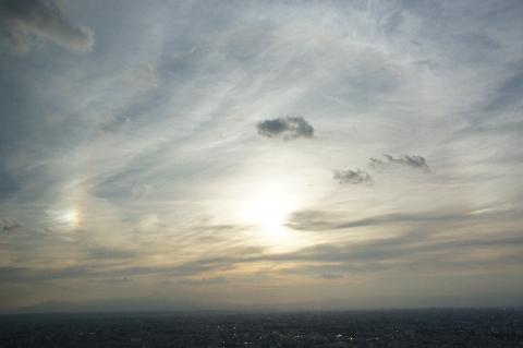 暈と幻日と富士山