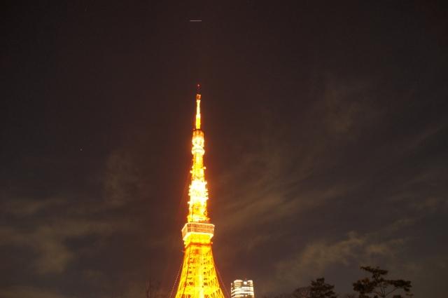 ISS、東京タワーの真上を通過中