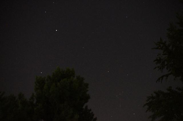 木星とオリオン座