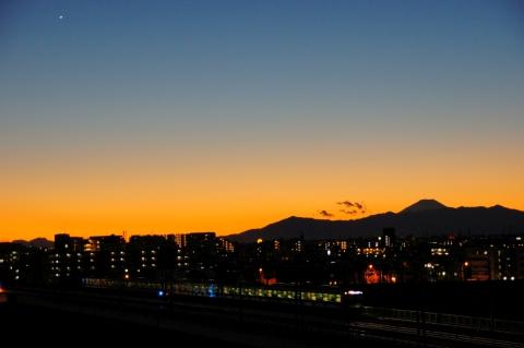 富士山と金星
