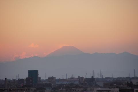 初日の入り後の富士山