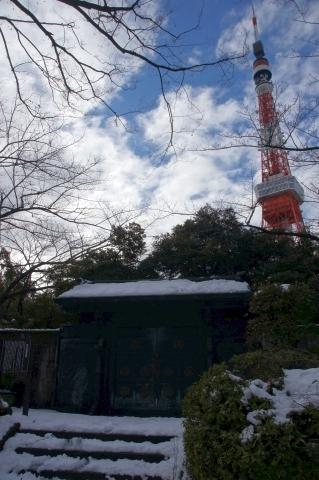徳川将軍家墓所と東京タワー