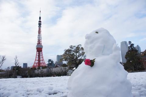 雪だるまと東京タワー