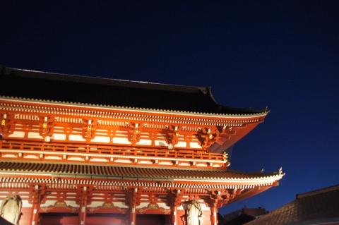 宝蔵門と火星1