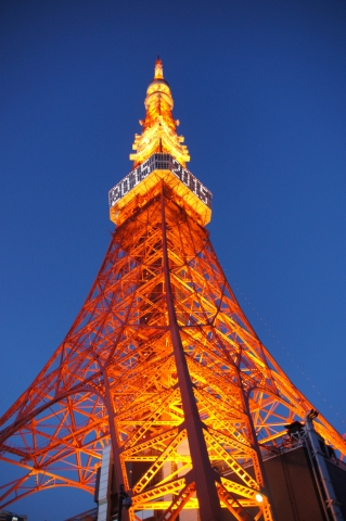 年号表示の東京タワー