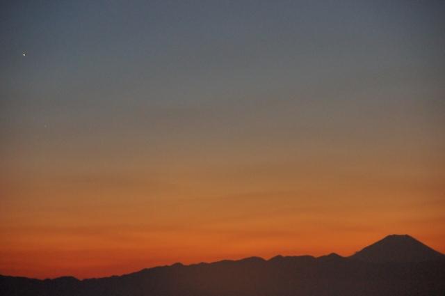 富士山と金星・水星