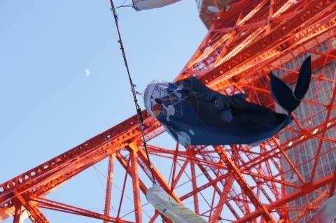 ワンピースの鯉のぼりと東京タワー