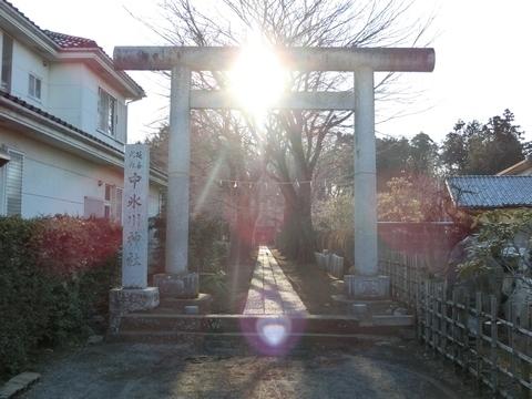 三ヶ島中氷川神社鳥居