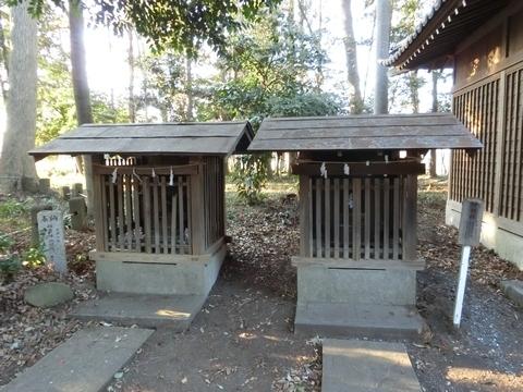 中氷川神社の稲荷神社と神明社