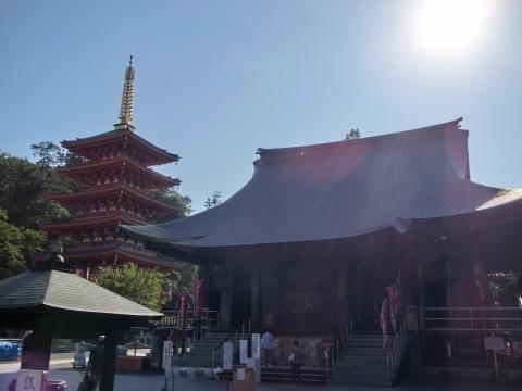 不動堂と五重塔