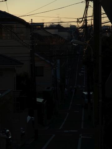坂の上から富士山