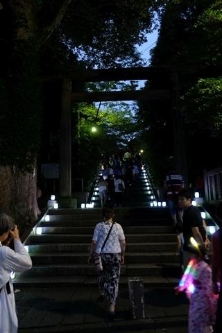 第11回野老澤行灯廊火 参道