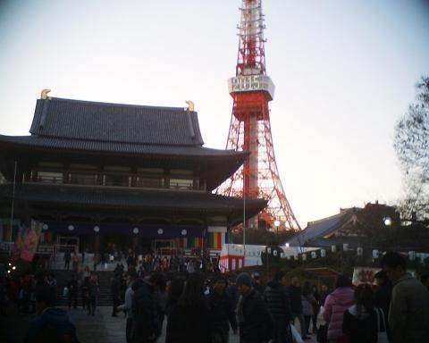 増上寺と東京タワー2015