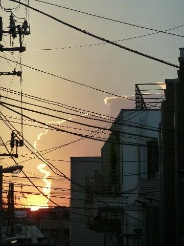 太陽と雲のいたずら