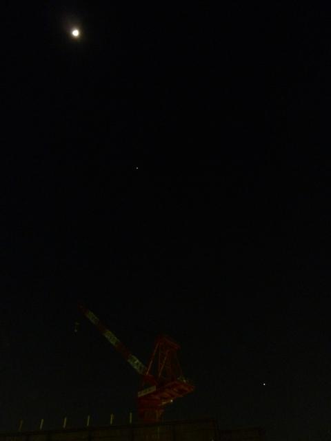金星・木星と十日月