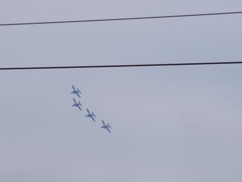4機編隊のブルーインパルス