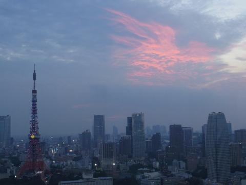 夕焼け空と東京タワー