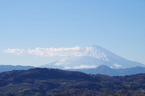 雲の影と富士山