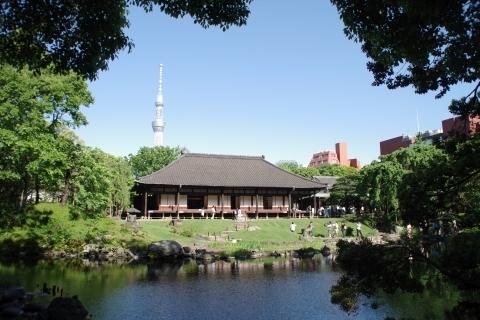 庭園と東京スカイツリー
