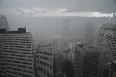 雨が新宿に到達