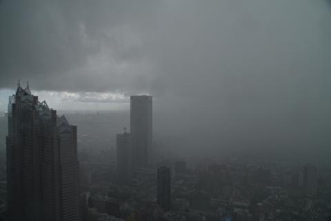 移動した雨の中心