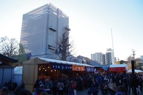 羽子板市の屋台