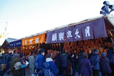 東京スカイツリーと羽子板市