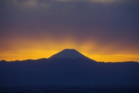 後光差す富士山1